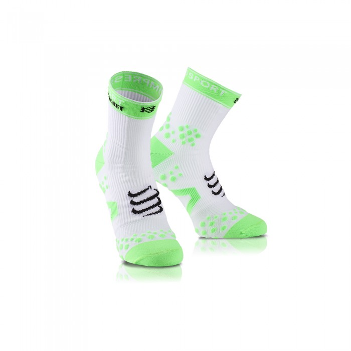 Chaussettes Compression Compressport Racket Strapping Socks Blanc