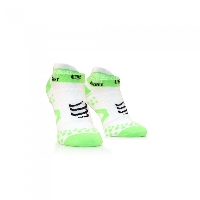 Chaussettes courtes Compression Compressport Racket Strapping Socks Low Cut Blanc