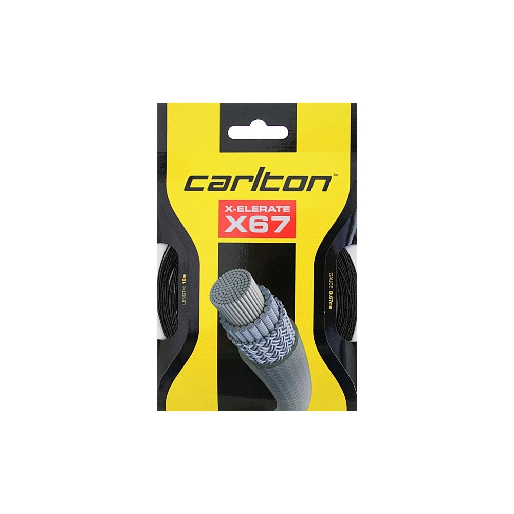 Garniture - Xelerate X67 - Carlton - Cordage Badminton - Noir
