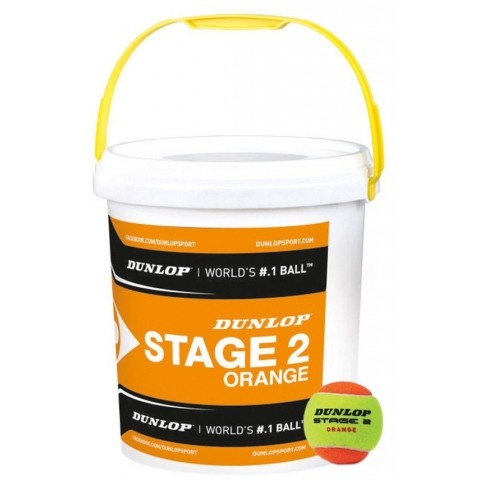 Mini Tennis - Stage 2 - Dunlop - Baril de 60 - Balles de tennis