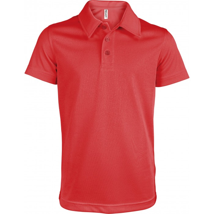 Polo Sport Homme - Manches Courtes - Proact - TopTex - Rouge