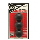 Balles Squash - Blister x 3 - Dunlop - Progress Loisir
