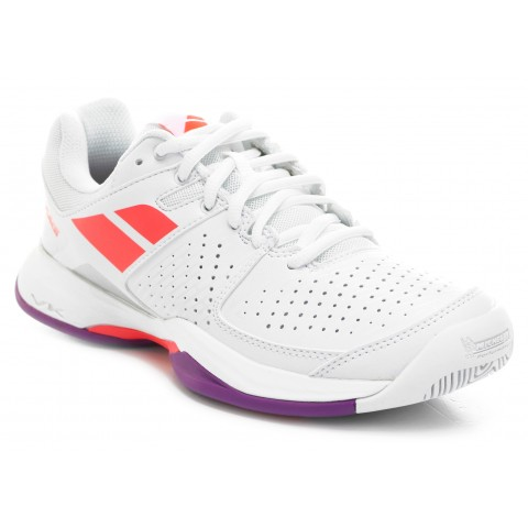 Pulsion All Court Junior Babolat Chaussures Tennis Blanc Rouge