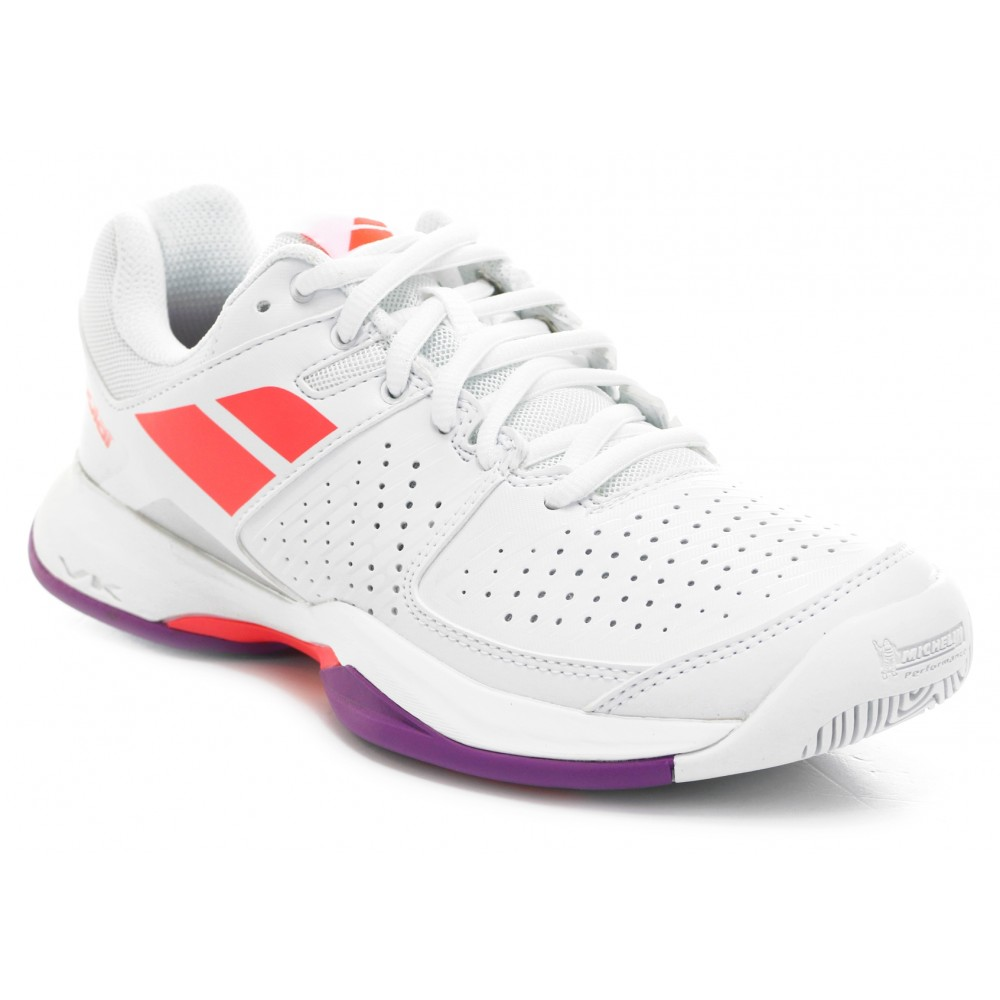 Pulsion All Court Junior - Babolat - Chaussures de Tennis - Blanc/Rouge - 2017