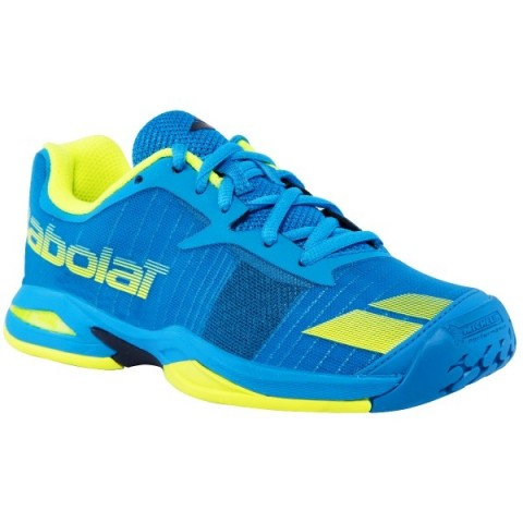 Chaussures Tennis Babolat Jet All Court Junior Bleu/Jaune 2017