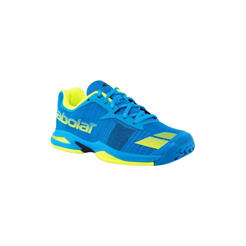 Jet All Court Junior - Babolat - Chaussures de Tennis - Bleu/Jaune - 2017