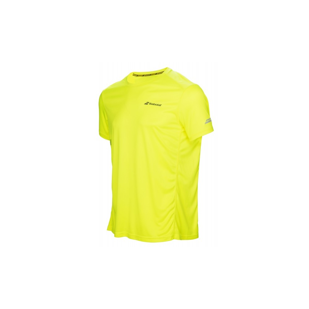T-shirt Sport Enfant - Babolat - Core Flag Club - Jaune - 2017
