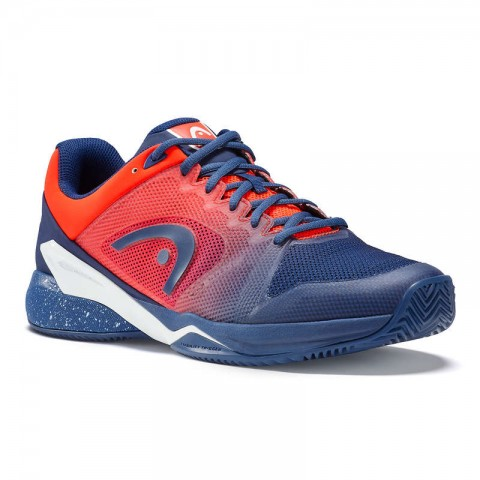 Chaussures Tennis Head Revolt Pro 2.5 Clay Homme Bleu Orange 2018