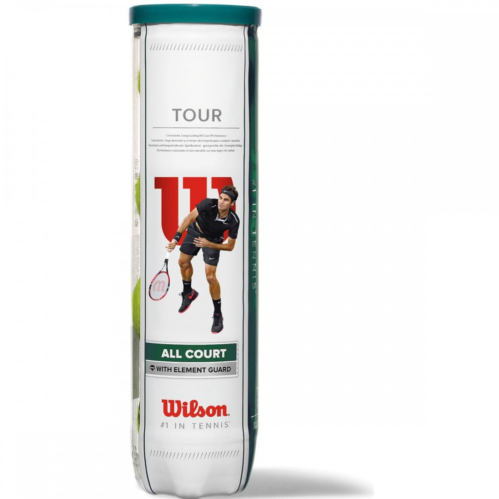 Tube de 4 Balles Wilson Tour All Court