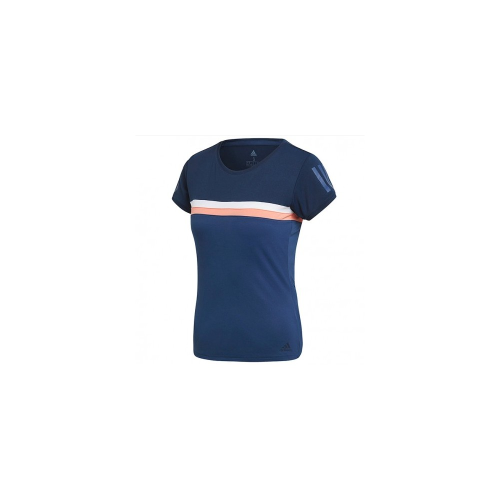 T-shirt Fille sport Adidas club bleu