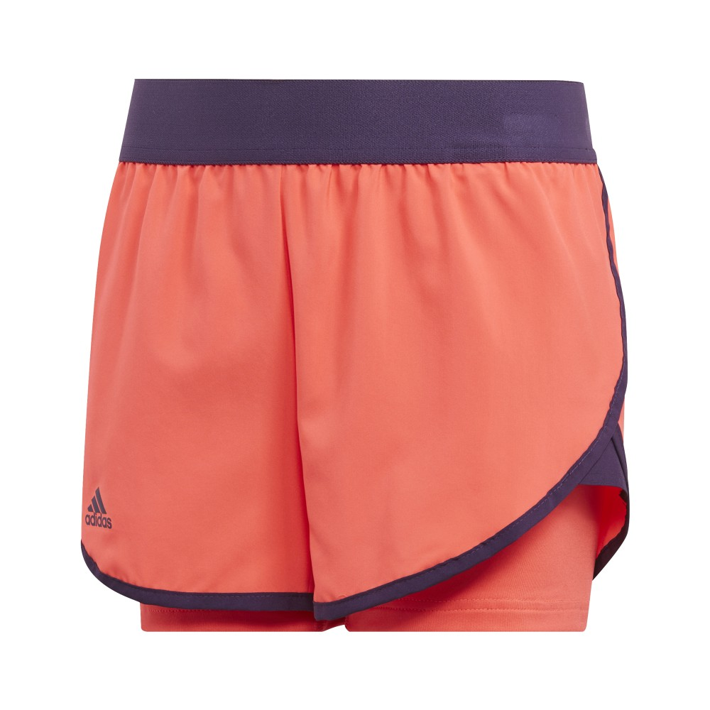 Short Sport Adidas Club Fille Orange
