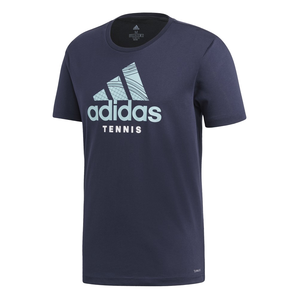 T-shirt Sport Homme Adidas Badge of Sport Bleu Marine