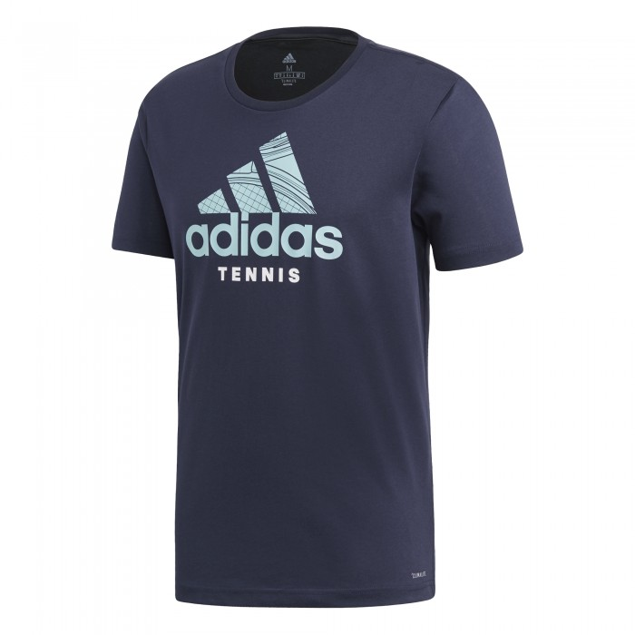 T Shirt Homme Sport Adidas Badge of Sport Bleu Marine