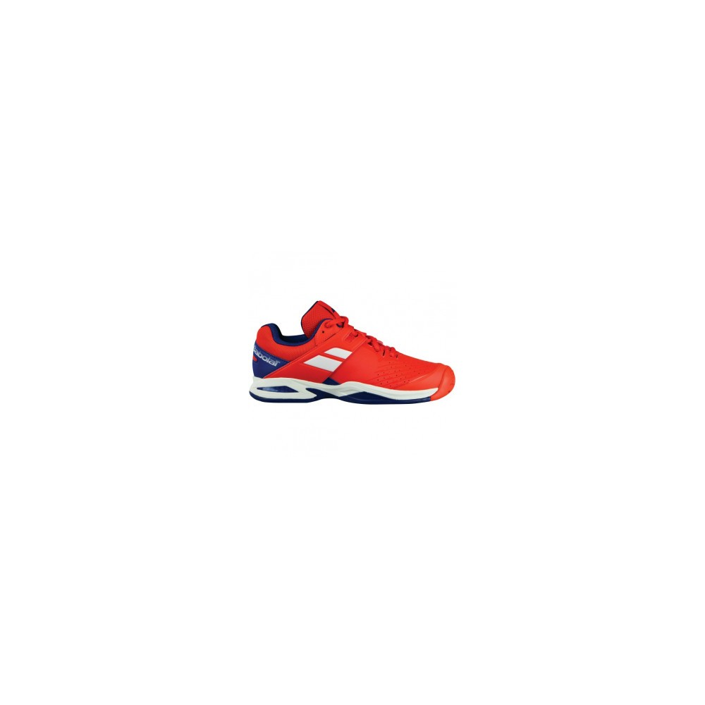 Chaussures Tennis Junior Babolat Propulse All Court Rouge Bleu Ciel 2018