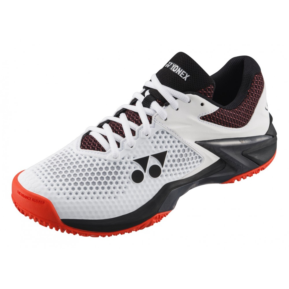 Chaussures Tennis Yonex Power Cushion Eclipsion 2 Clay Blanche Orange 2019