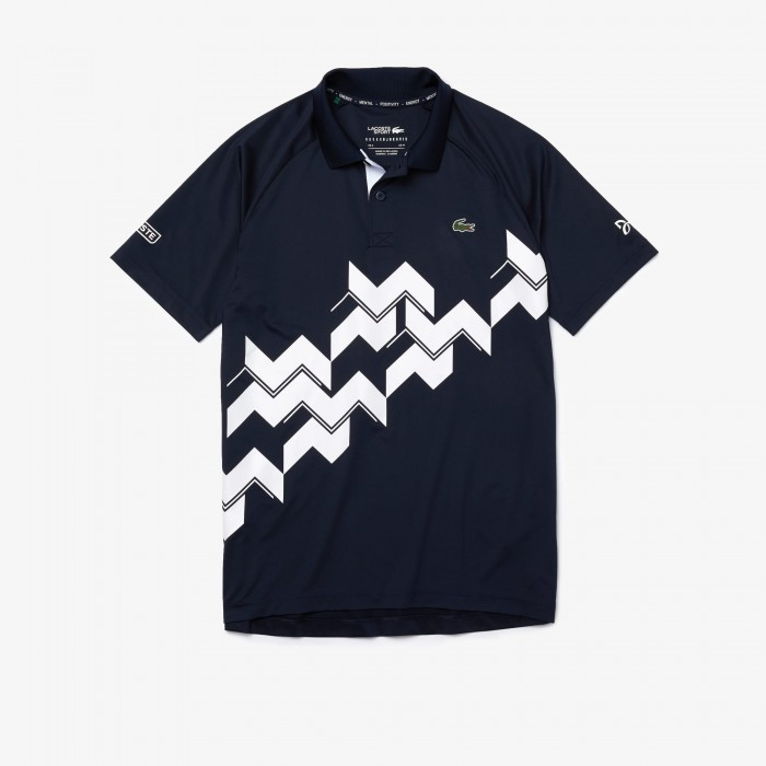 Polo Col Chemise Lacoste Marine Homme